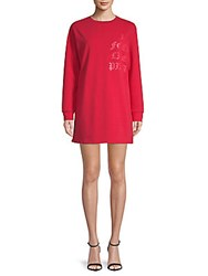 Lea And Viola I Feel Like Pizza Graphic T Shirt Dress Red