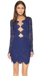 For Love And Lemons Noir Lace Mini Dress Navy