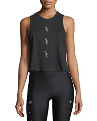 Ultracor Swarovski Bolt Racerback Tank Black Pattern