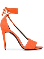 Pierre Hardy Tie Back Sandals Yellow And Orange
