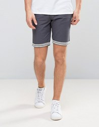 Another Influence Aztec Turn Up Chino Shorts Navy