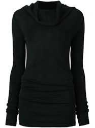 Rick Owens Cowl Neck Jumper Black