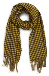 Saachi Two Tone Checkered Scarf Yellow Multi