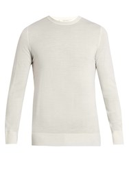 Adam By Adam Lippes Crew Neck Wool Sweater Ivory