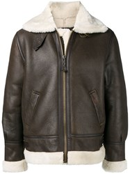 Schott Casual Leather Jacket Brown