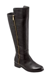 Women's Trotters 'Larule' Tall Boot Black Wide Calf