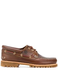 Timberland Chunky Sole Boat Shoes Brown