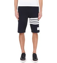Thom Browne Striped Cotton Jersey Shorts Navy White
