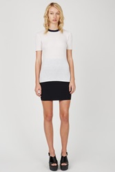 Alexander Wang Rayon Spandex Fitted Pencil Skirt Black