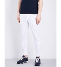 Michael Kors Skinny Mid Rise Stretch Cotton Chinos White
