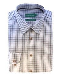 Double Two Patterned Formal Shirt Brown