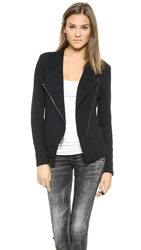Pure Dkny Cropped Asymmetrical Jacket Black