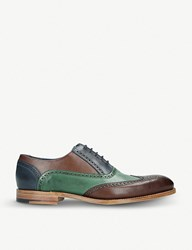 Barker Valiant Tri Tone Leather Oxford Shoes Brown Oth