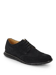 Cole Haan Grandsprint Suede Wingtip Oxfords Black