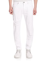 Helmut Lang Distressed Skinny Jeans Optic White