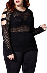 Mblm By Tess Holliday Plus Size Women's Open Stitch Sweater