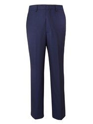 Chester Barrie Men's Tapered Fit Tailored Trousers Navy