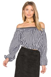 Nicholas Pintuck Off Shoulder Top Black