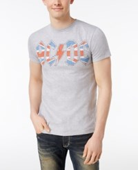 Bioworld Acdc Union Flag Graphic T Shirt Athletic Heather