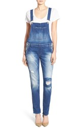 Women's Mavi Jeans 'Edera' Ripped Overalls Patch Ripped