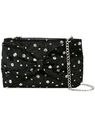 Christian Siriano Embellished Velvet Crossbody Bag Black