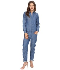G Star Arc Boyfriend Boilersuit In Lightweight Boll Denim Rinsed Women's Jumpsuit And Rompers One Piece Black