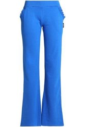 Just Cavalli French Cotton Blend Terry Pajama Pants Blue
