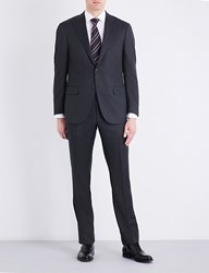 Corneliani Nail Head Print Regular Fit Wool Suit Charcoal