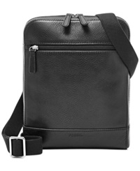 Fossil Rory Leather Courier Bag Black