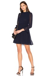 Line And Dot Renee Babydoll Dress Navy