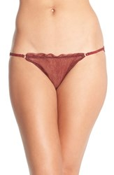 Women's Free People 'Bells Will Be Ringing' Metallic Mesh Brief 3 For 30