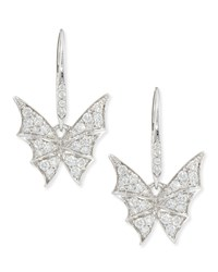 Fly By Night Mini Bat Moth Diamond Earrings Stephen Webster Black
