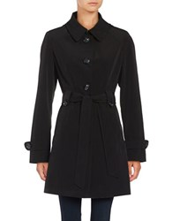 Gallery Belted Trenchcoat Black