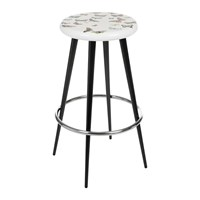 Fornasetti Farfalle Bar Stool White