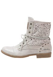 Mustang Laceup Boots Hellgrau Light Grey