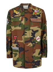 Topman Green Finds Khaki Camouflage Patch Jacket