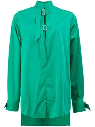 Aalto Asymmetric Shirt With Buckle Details Green