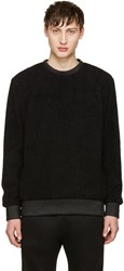 Helmut Lang Black Sherpa Sweater