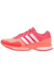Adidas Performance Response Boost 2 Cushioned Running Shoes Sun Glow White Shock Red Apricot