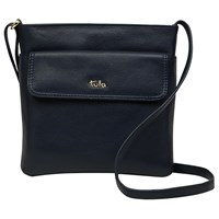Tula Nappa Originals Leather Medium Across Body Bag Dark Blue
