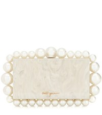Cult Gaia Eos Box Acrylic Clutch White