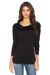 Suss Mayra Cowl Neck Tee Black