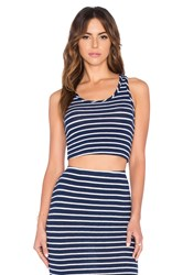 Hye Park And Lune Hailey Crop Tank Blue