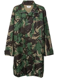 Cmmn Swdn Camouflage Print Coat Green