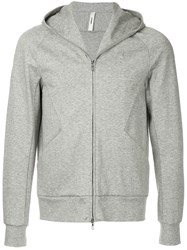Attachment Raglan Sleeve Hoodie Grey