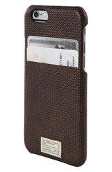 Hex 'Solo' Iphone 6 And 6S Wallet Case Brown Brown Woven Leather