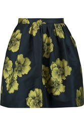 Etro Floral Jacquard Mini Skirt Yellow