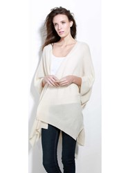 Johnstons Of Elgin Cashmere Purl Stitch Wrap White