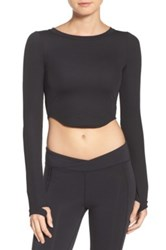 Free People Time Out Crop Top Black