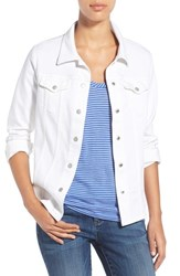 Women's Nydj 'Dylan' Denim Jacket Optic White